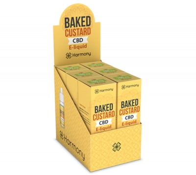 Harmony Baked Custard CBD E-Liquid 6er Pack incl. Display Box