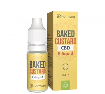 Harmony Baked Custard CBD E-Liquid, 10ml