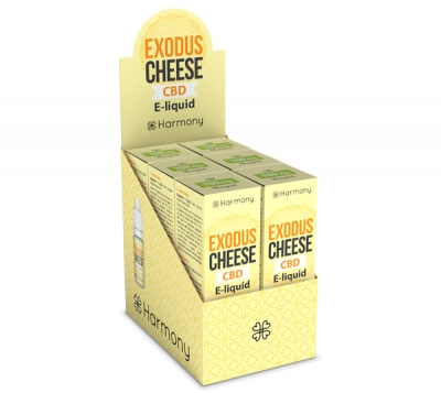 Harmony Exodus Cheese CBD E-Liquid 6er Pack incl. Display Box