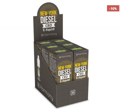 Harmony New York Diesel CBD E-Liquid 6er Pack incl. Display Box