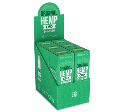 Harmony Original Hemp CBD E-Liquid 6er Pack incl. Display Box