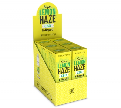 Harmony Super Lemon Haze CBD E-Liquid 6er Pack incl. Display Box