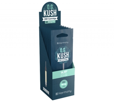 Harmony O.G. Kush CBD E-Liquid Kartuschen 6er Pack incl. Display Box